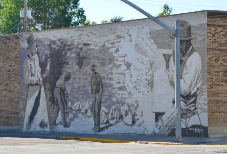 A mural on the square in Kemmerer, Wyoming