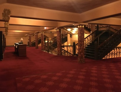 Middle level lobby in the Auditorium Theatre in Chicago, Illinois