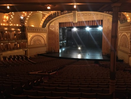 View from near the luxury boxes in the Auditorium Theatre in Chicago, Illinois