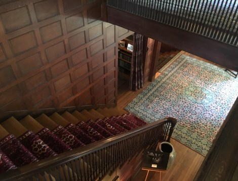 Stairway at the John J. Glessner House in Chicago, Illinois