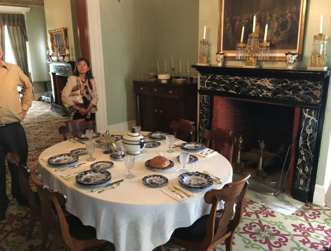 Dining room at the Henry B. Clarke House in Chicago, Illinois