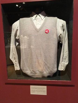 Shirt worn by César Chávez at National Museum of Mexican Art in Pilsen, Chicago, Illinois