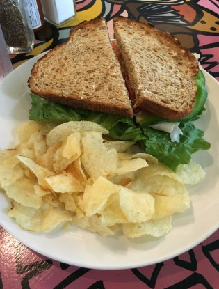 Turkey sandwich at Café Jumping Bean in Pilsen, Chicago, Illinois