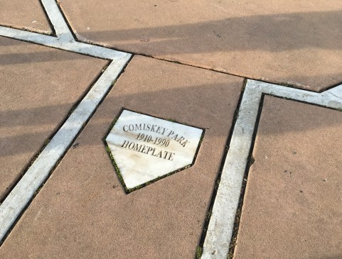 Home plate of old Comiskey Park in Chicago, Illinois