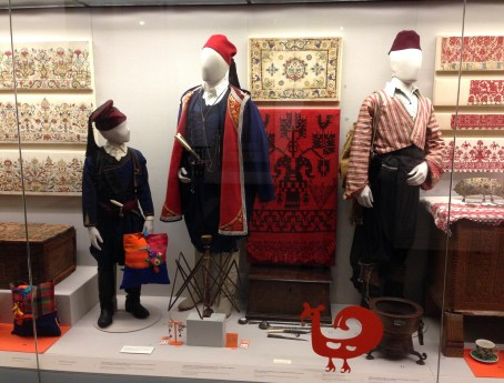 Traditional Cretan costumes at the Benaki Museum in Athens, Greece