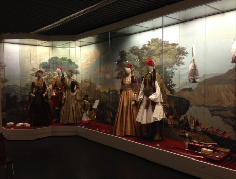 Traditional clothing used by the royal family at the Benaki Museum in Athens, Greece
