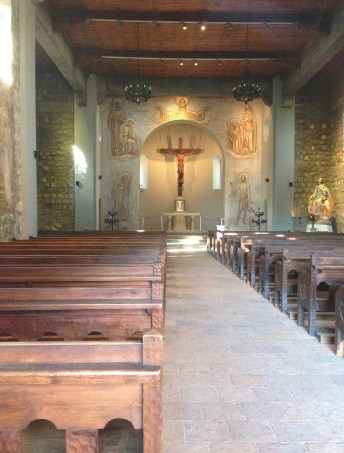 Church at Cerro San Cristóbal in Bellavista, Santiago de Chile