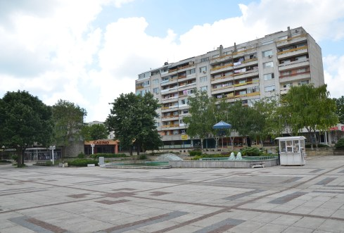 Main square in Kavarna, Bulgaria