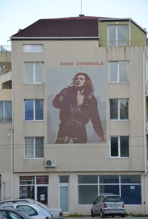 David Coverdale mural in Kavarna, Bulgaria