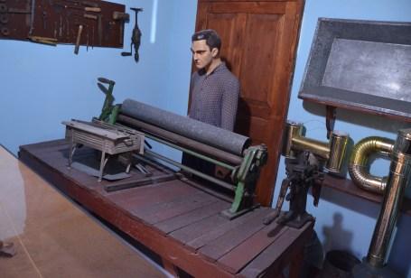 Metalworker at the Izmir Ethnography Museum in Izmir, Turkey