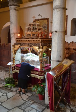 Relics of St. Anisia at the Church of St. Dimitrios in Thessaloniki, Greece