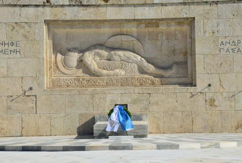 Tomb of the Unknown Soldier in Athens, Greece