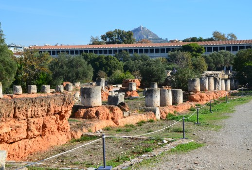 Stoa at the Agora in Athens, Greece