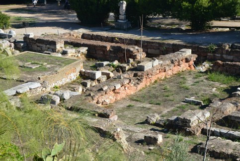 Old Bouleuterion and Metroon at the Agora in Athens, Greece