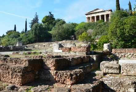 Temple of Apollo Patroos at the Agora in Athens, Greece