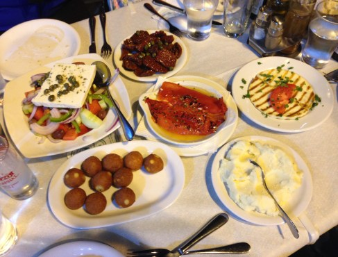 Dinner at To Tsikoudo in Chora, Chios, Greece
