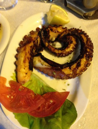 Octopus at To Tsikoudo in Chora, Chios, Greece