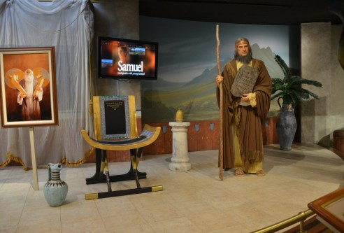 Samuel in the prophets exhibit in the North Visitors' Center at Temple Square in Salt Lake City, Utah