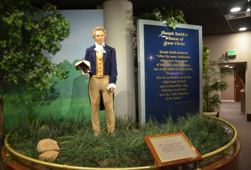 Joseph Smith in the prophets exhibit in the North Visitors' Center at Temple Square in Salt Lake City, Utah