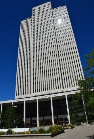 LDS Office Building at Temple Square in Salt Lake City, Utah