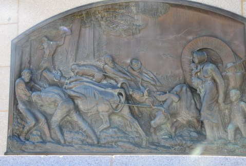 Donner Party on the This Is the Place Monument in Salt Lake City, Utah