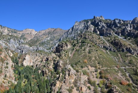 The view during the hike at Timpanogos Cave National Monument, Utah
