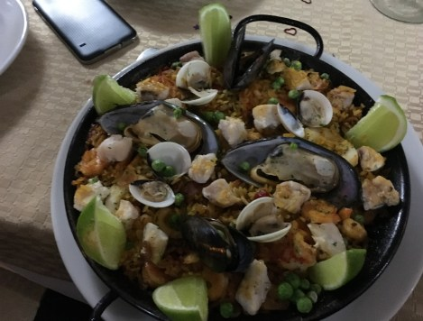 Paella at Hispania in Pereira, Risaralda, Colombia