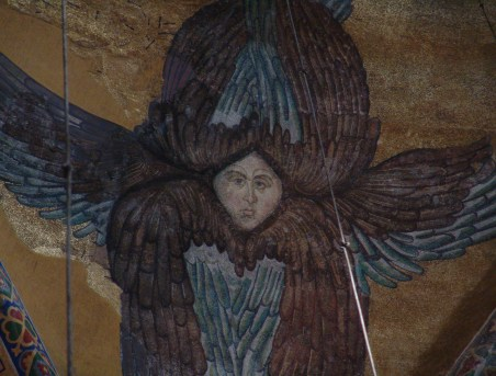 Seraphim (6-winged angel) at Hagia Sophia in Istanbul, Turkey