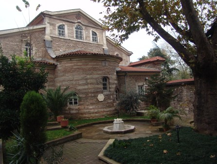 Church of St. George (back) at the Ecumenical Patriarchate of Constantinople in Fener, Istanbul, Turkey