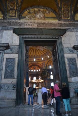 Imperial Gate at Hagia Sophia in Istanbul, Turkey