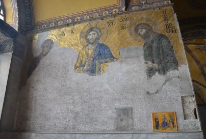 Deësis mosaic at Hagia Sophia in Istanbul, Turkey