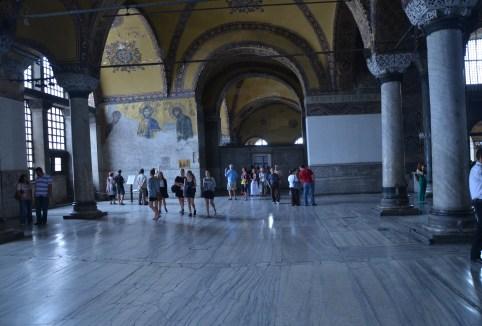 Upper gallery at Hagia Sophia in Istanbul, Turkey