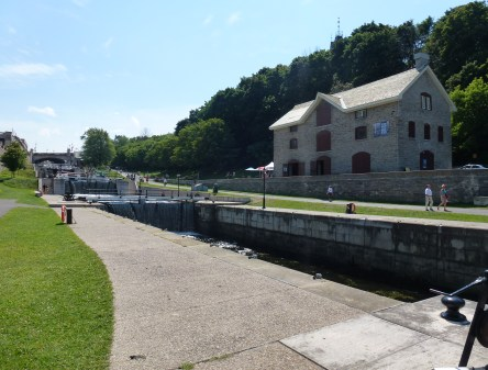 Bytown Museum and Rideau Canal in Ottawa, Ontario, Canada