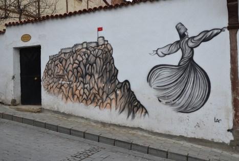 Afyon mural in Afyon, Turkey