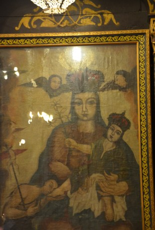 Icon at the Hanging Church in Cairo, Egypt