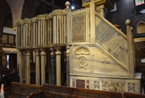 Pulpit at the Hanging Church in Cairo, Egypt