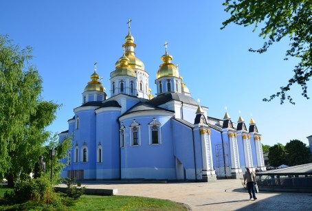 St. Michael's Golden-Domed Cathedral at St. Michael's Golden-Domed Monastery in Kiev, Ukraine