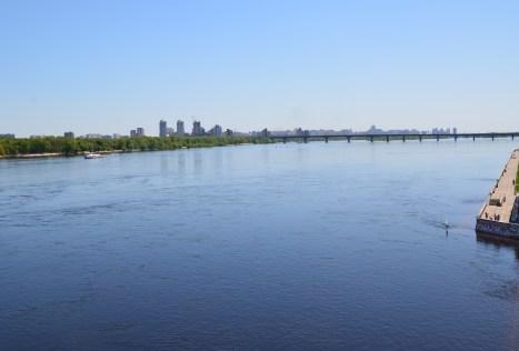 Dnipro River in Kiev, Ukraine