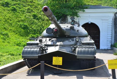T-10 tank at the National Museum of the History of Ukraine in the Second World War Memorial Complex in Kiev, Ukraine