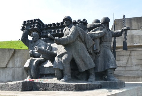 Crossing of the Dnipro monument at the National Museum of the History of Ukraine in the Second World War Memorial Complex in Kiev, Ukraine