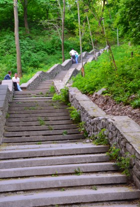 St. Andrew's Steps at Volodymyr's Hill in Kiev, Ukraine