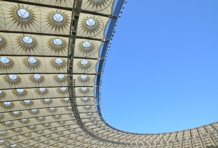 Roof at Olimpiyskiy National Sports Complex in Kiev, Ukraine