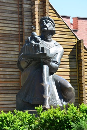 Yaroslav the Wise statue in Kiev, Ukraine