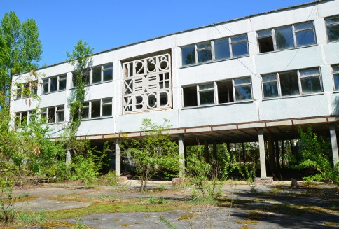 Middle School #5 in Pripyat, Chernobyl Exclusion Zone, Ukraine
