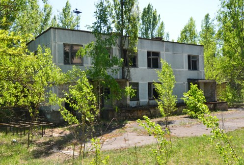 Café / snack bar in Pripyat, Chernobyl Exclusion Zone, Ukraine