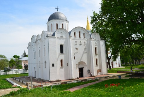Saints Boris and Gleb Cathedral at Detinets Park in Chernihiv, Ukraine