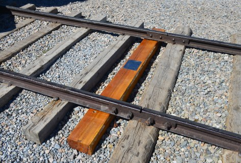 The last tie at Golden Spike National Historic Site, Promontory Summit, Utah