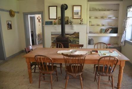 Garr home at Fielding Garr Ranch at Antelope Island State Park in Utah