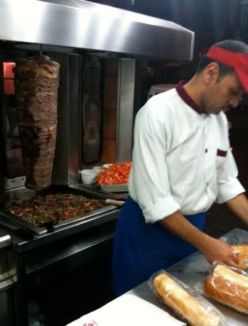 Shawarma shop in Cairo, Egypt