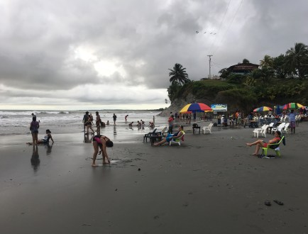The beach in Ladrilleros, Valle del Cauca, Colombia
